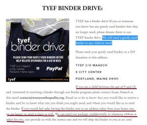 TYEF binder drive