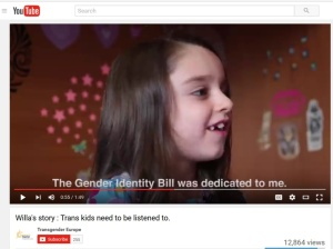 Celebrity Willa Gender ID bill