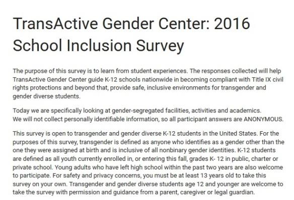 Transactive survey