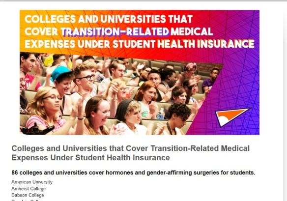 Campus pride student health clinic